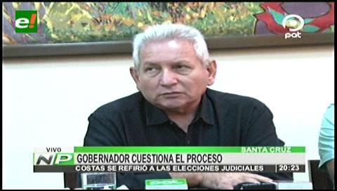 Rubén Costas cree que no hay voluntad en el Gobierno para mejorar la justicia