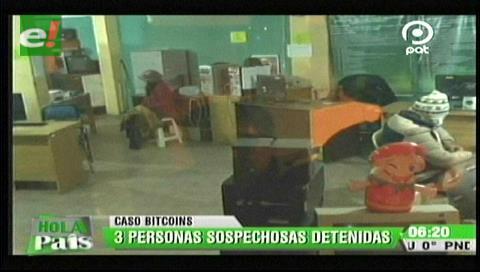 La Paz: Tres personas fueron aprehendidas por el caso Bitcoins