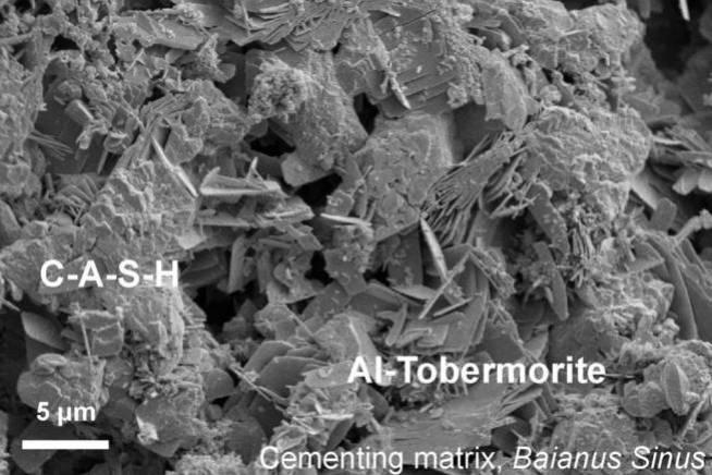 La estructura del hormigón vista al microscopio.
