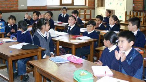 Escolares en La Paz.Foto: archivo