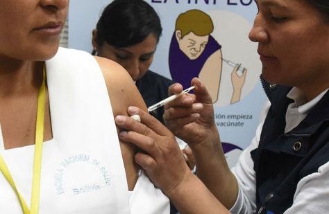 Vacunación contra la gripe o influenza.