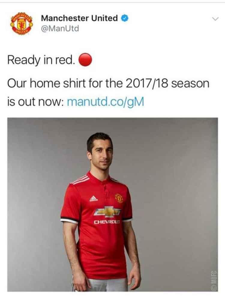 El posteo de la cuenta oficial del Manchester United que terminó siendo eliminado