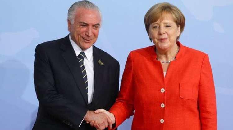 Michel Temer y Angela Merkel en el G-20 (Reuters)