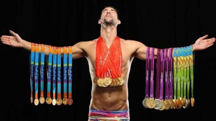 Michael Phelps y sus 23 medallas olímpicas (Sports Illustrated)