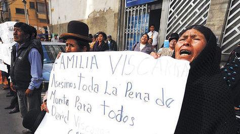Familiares y amigos de Pillco protestan en noviembre de 2016. Foto archivo