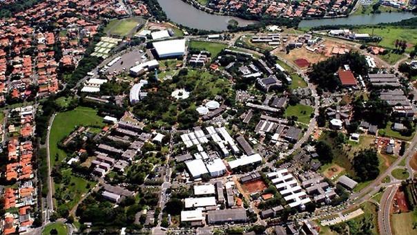 Vista panorámica de la Universidad de Campinas, el primer puesto.