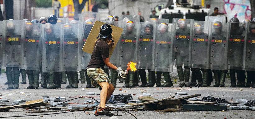 La historia del joven símbolo de las protestas en Venezuela