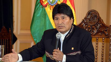 El presidente Evo Morales en conferencia de prensa en Palacio de Gobierno.