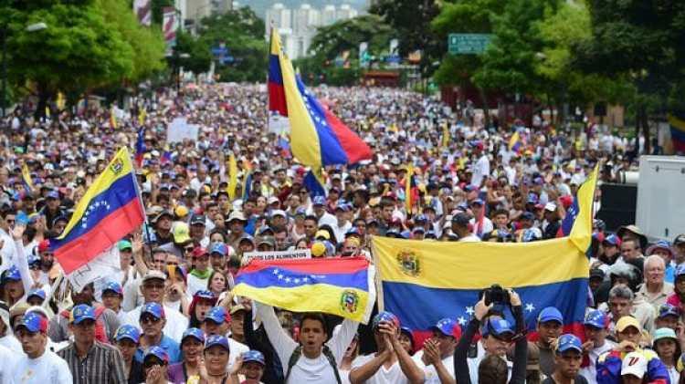 """La oposición convocó a una """"Toma de Venezuela""""(AFP)"""