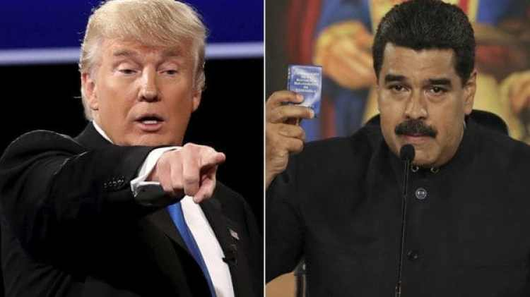 El presidente estadounidense Donald Trump y su par venezolano Nicolás Maduro