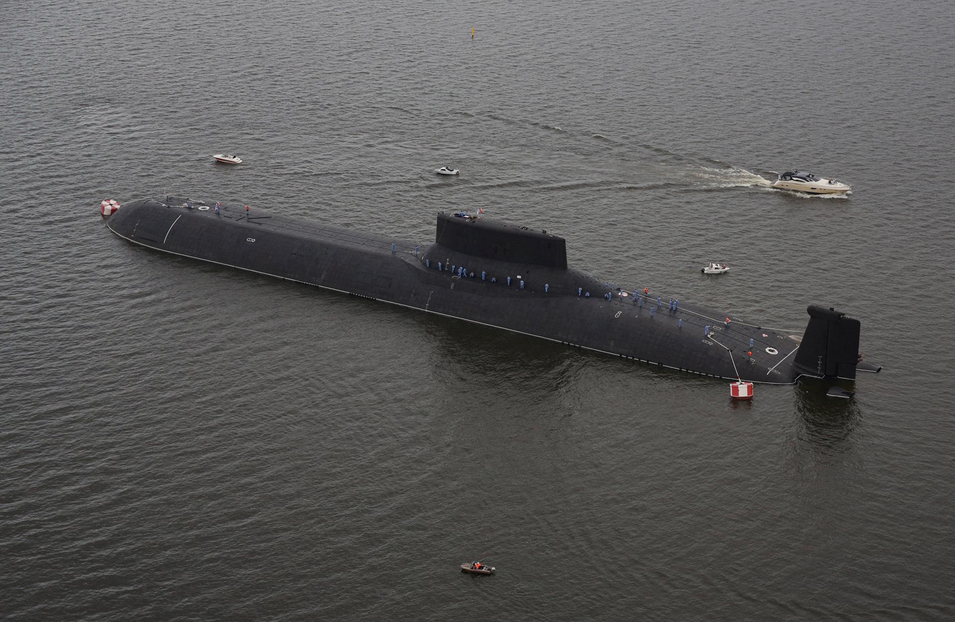 "El submarino nuclear ""Dmitri Donskoi"" (Reuters)"