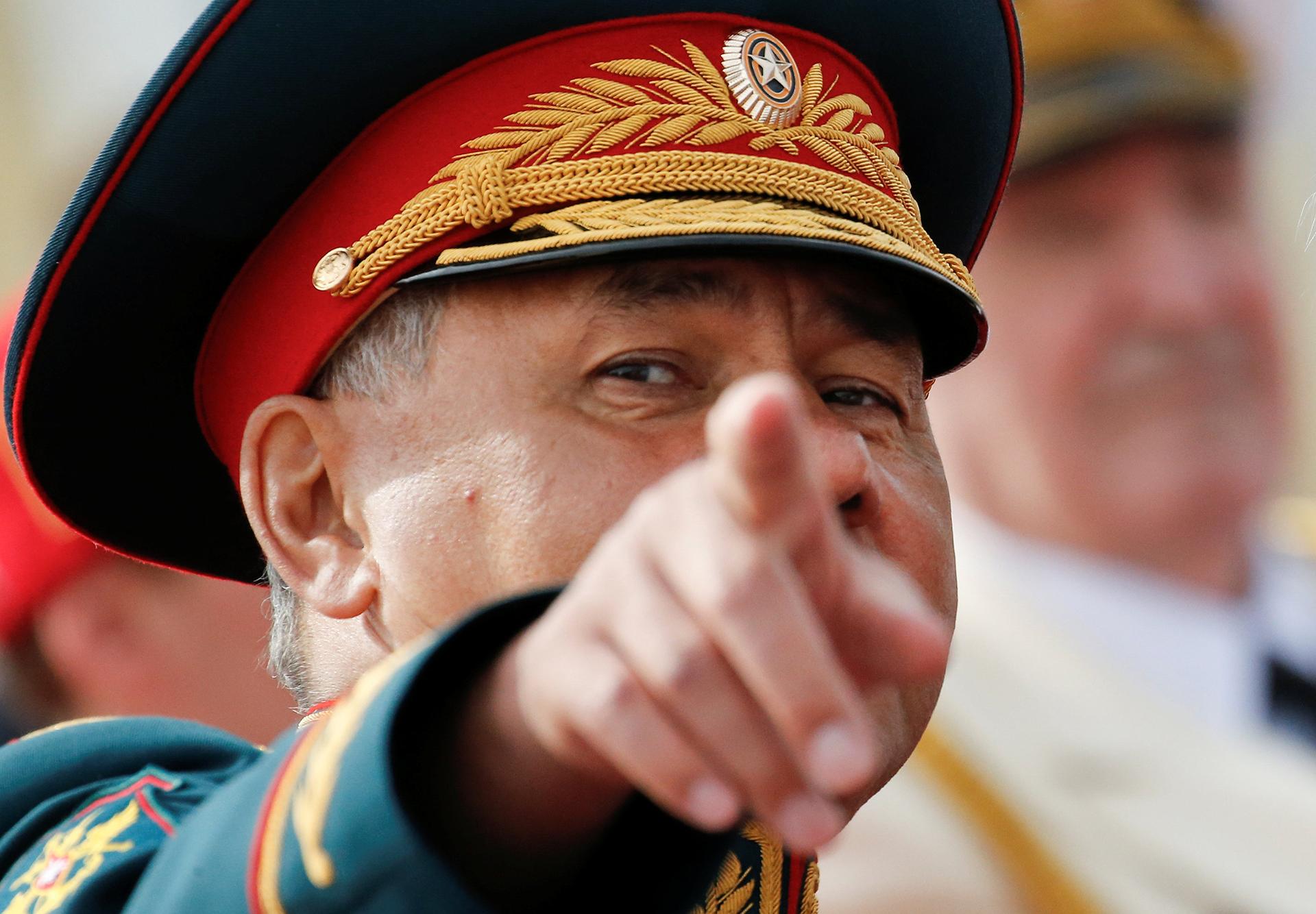 El Ministro de Defensa ruso,Sergei Shoigu, durante el desfile naval (Reuters)