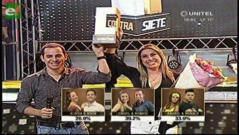 Grisel y Ronico los ganadores del Contra 7