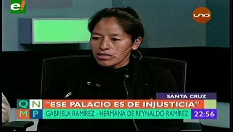 Gabriela pensó en inmolarse para probar la inocencia de su hermano Reynaldo Ramirez