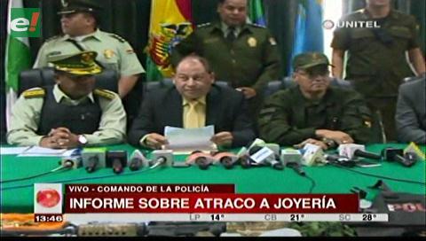 Ministro de Gobierno brindó informe sobre el atraco a la joyería Eurochronos (video)