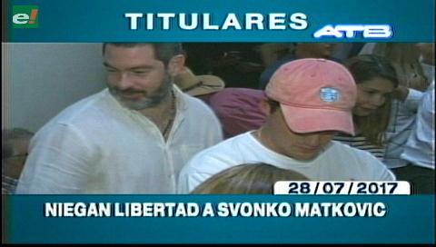Video titulares de noticias de TV – Bolivia, noche del viernes 28 de julio de 2017