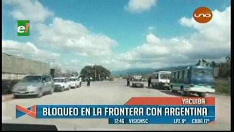Campesinos inician bloqueo en Yacuiba