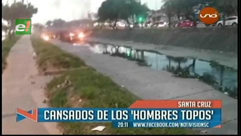 Vecinos corrieron a palos a los «hombres topos» de los canales