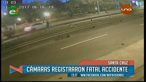 Cámaras registran a un vehículo atropellando a un hombre