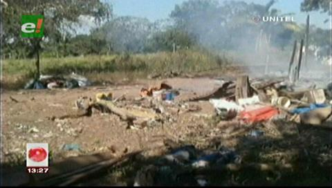 INRA informa que viviendas quemadas en Guarayos estaban construidas ilegalmente