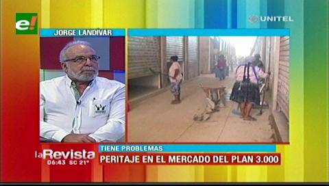 Landivar: Peritaje determinará si se demuele o no el mercado del Plan Tres Mil