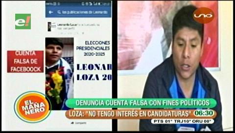 Leonardo Loza denuncia cuenta falsa de Facebook