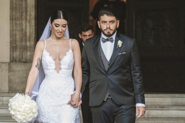 Nunzia y Diego Jr, el día de su casamiento