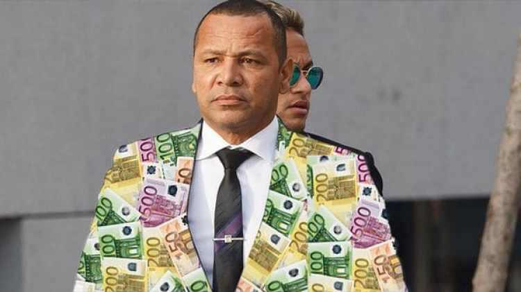 El traje del papá de Neymar hecho con billetes de 100, 200 y 500 euros