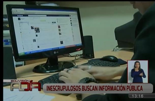 Inescrupulosos buscan información pública a través de internet