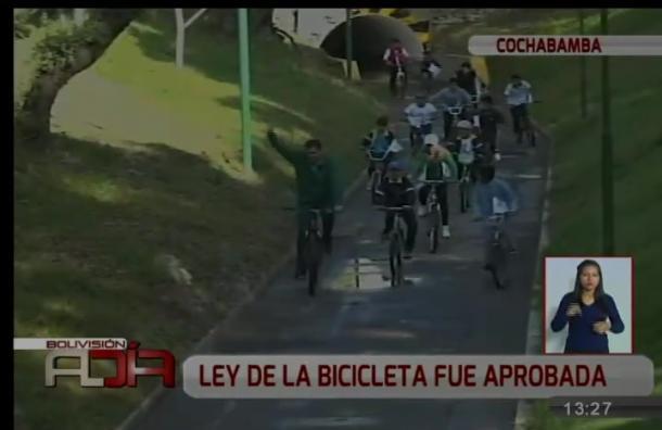 Aprueban ley de la bicicleta en Cochabamba