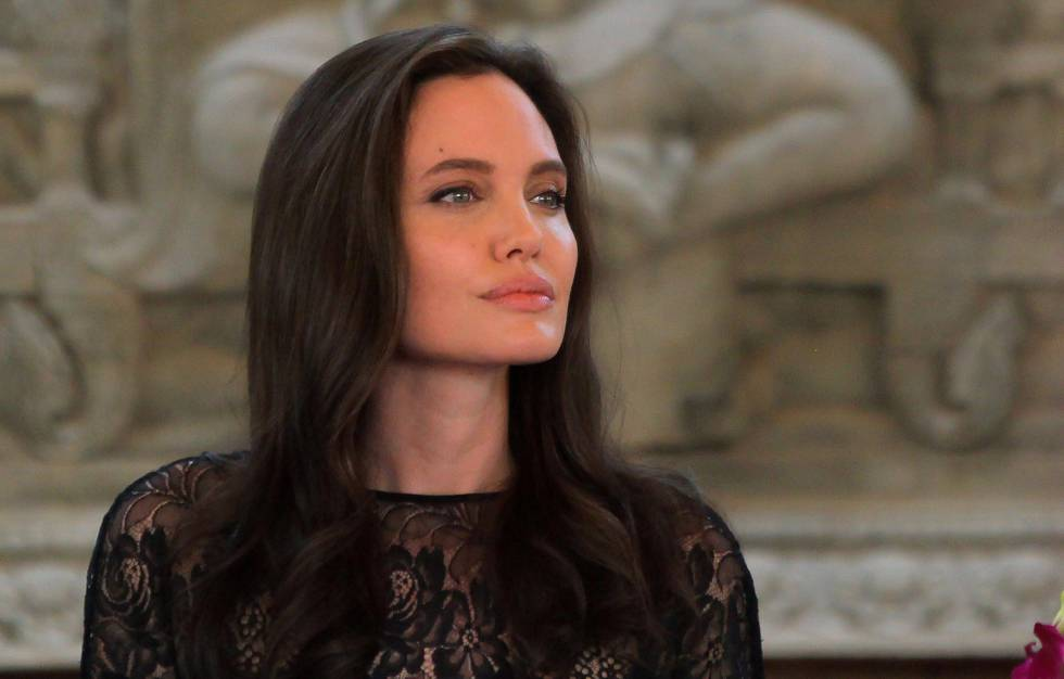 Angelina Jolie, en Camboya el pasado febrero.