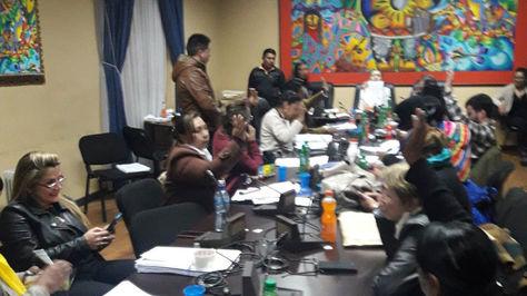 Sesión de la Comisión Mixta