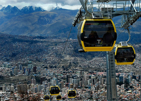 Cabinas de la Línea Amarilla de Mi Teleférico. Foto: La Razón