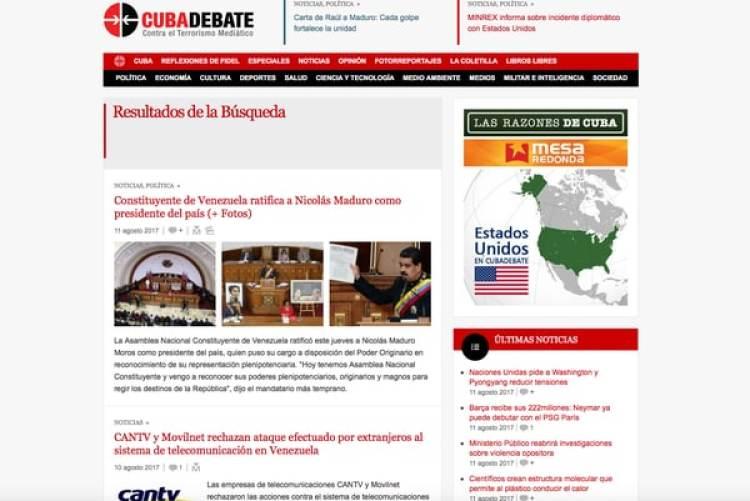 En Cuba el gobierno controla todos los periódicos, estaciones de radio y televisión del país. La mayoría de los cubanos no tienen acceso a canales internacionales por cablesolo aTelesur