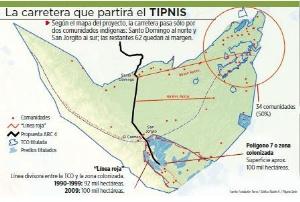 Actual trazo de ruta por TIPNIS está alejado de 64 comunidades