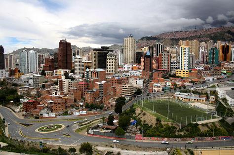 Vista panorámica de la zona central de La Paz.