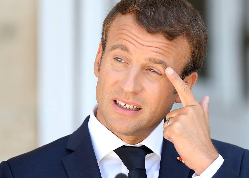 El presidente francés, Emmanuel Macron, en Bulgaria el 25 de agosto