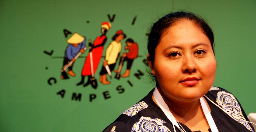 Yasmin Beczabeth López, parte de la dirección del Consejo para el Desarrollo de la Mujer Campesina (Codimca).