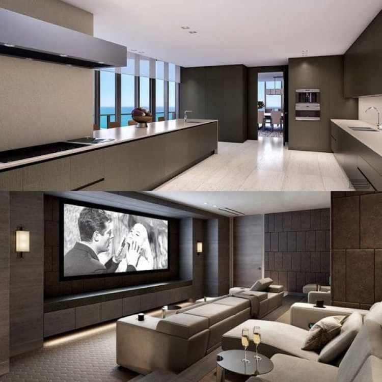Entre los amenities ofrecidos por el triplex de USD 39 millones se encuentran una cava de vinos para mil botellas y un cine privado con capacidad para diez personas