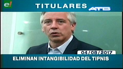 Video titulares de noticias de TV – Bolivia, mediodía del viernes 4 de agosto de 2017