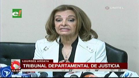 Presidenta del TDJ de Santa Cruz dice que existe un video con montos de extorsión a jueces