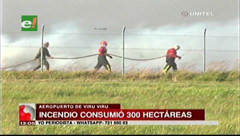 300 hectáreas de pastizales fueron afectadas por el incendio cerca a Viru Viru
