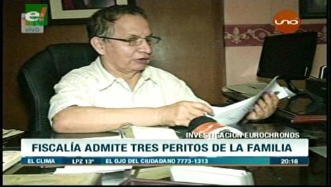Caso Eurochronos: Fiscalía admite peritos de la familia Torrez