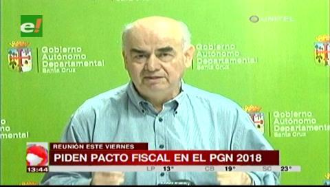 """José Luis Parada: """"El Pacto Fiscal se debe construir pensando en Bolivia"""""""
