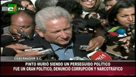Rubén Costas expresa sus condolencias a la familia de Roger Pinto