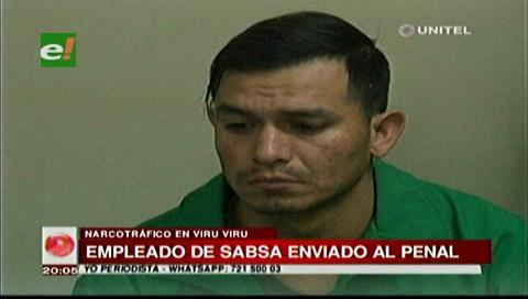 Envían a Palmasola a empleado de Sabsa acusado de narcotráfico