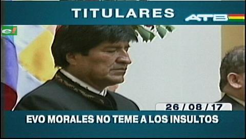 Video titulares de noticias de TV – Bolivia, mediodía del sábado 26 de agosto de 2017