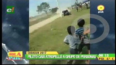 Rally Codasur: Piloto pierde el control y casi atropella a un grupo de personas