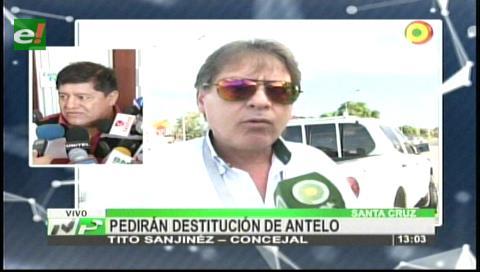 Concejal Sanijnéz pedirá la destitución de Fernando Antelo