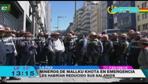 Mineros de Mallku Khota están en emergencia por reducción de sus salarios